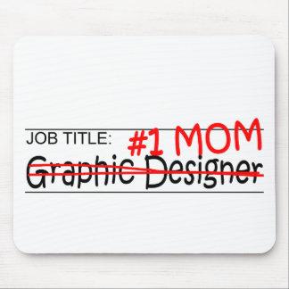 仕事のお母さんのグラフィックデザイナー マウスパッド