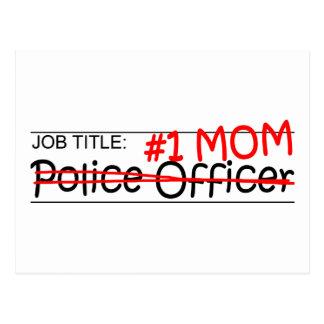 仕事のお母さんの警官 ポストカード