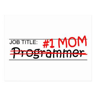 仕事のお母さんプログラマー ポストカード