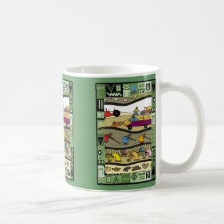 仕事のアフリカの農家 コーヒーマグカップ
