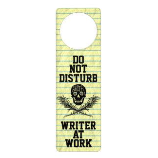 仕事のスカルで作家を妨げないで下さい ドアノブプレート