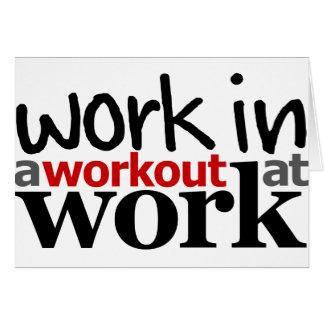 仕事のトレーニングの仕事 カード