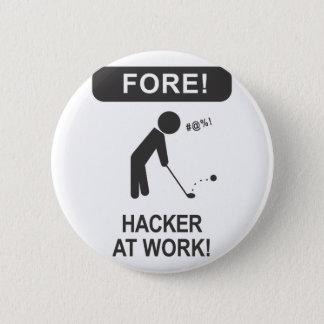 仕事のハッカー 缶バッジ