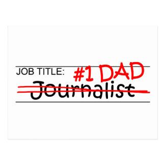 仕事のパパのジャーナリスト ポストカード