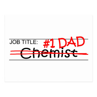 仕事のパパの化学者 ポストカード