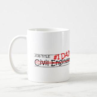 仕事のパパの土木技師 コーヒーマグカップ