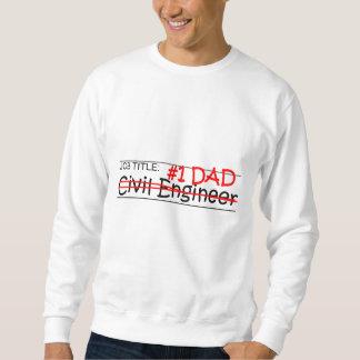 仕事のパパの土木技師 スウェットシャツ