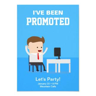 仕事のプロモーションの発表のパーティの招待状 カード