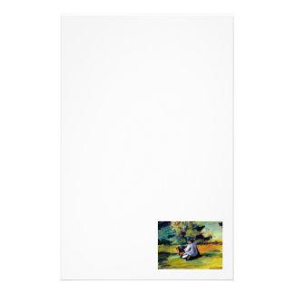 仕事のポストの印象派の芸術のセザンヌペインター 便箋