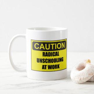 仕事のマグの注意根本的なUnschooling コーヒーマグカップ