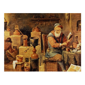 仕事の中世錬金術師 ポストカード