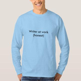 仕事の作家(正直な) Tシャツ