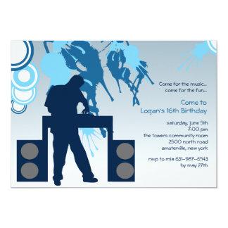 仕事の写真の招待状のDJ カード