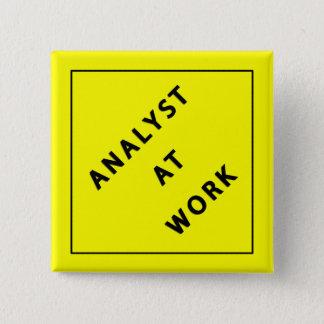 仕事の分析者 5.1CM 正方形バッジ