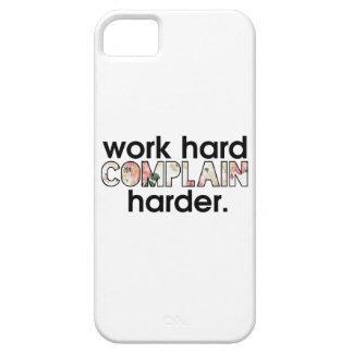 仕事の懸命はより懸命に不平を言います iPhone SE/5/5s ケース