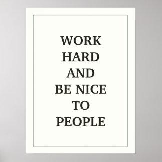 仕事の懸命は人々の引用語句に素晴らしく、 ポスター