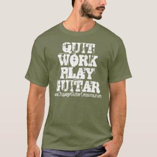仕事の演劇のギターwww.DupageGuitarLessons.comをやめて下さい Tシャツ