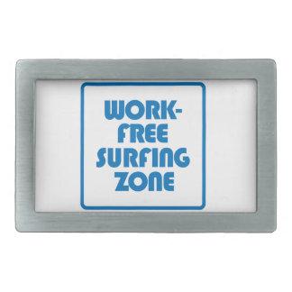仕事の自由なサーフィンの地帯 長方形ベルトバックル