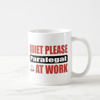 仕事の静寂のパラリーガル コーヒーマグカップ