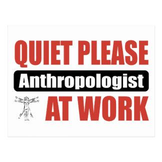 仕事の静寂の人類学者 ポストカード
