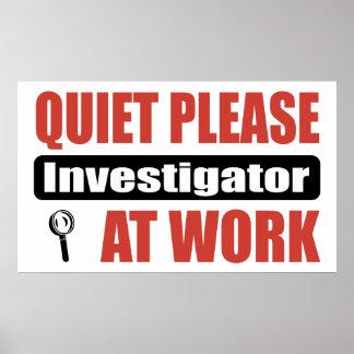 仕事の静寂の調査官 ポスター