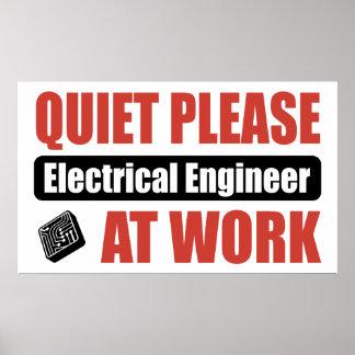 仕事の静寂の電気技師 ポスター