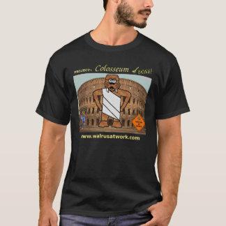 仕事のColosseumのプロジェクトのTシャツのセイウチ(暗い) Tシャツ