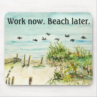 仕事は今より遅いマウスパッドを浜に引き上げます マウスパッド