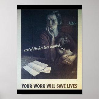 仕事は生命世界大戦2を救います ポスター