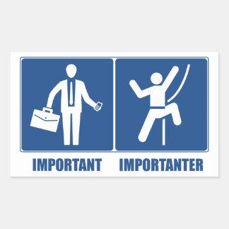 仕事は重要で、ですImportanter上ります 長方形シール