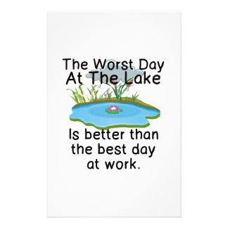 仕事よりよい湖の最も悪い日- 便箋