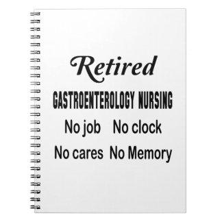仕事を看護しない退職したな胃腸病学時計無しN ノートブック