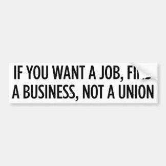 仕事連合ではなく バンパーステッカー