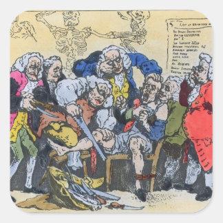 仕事1793年のジョージ王朝の外科医の風刺漫画 スクエアシール