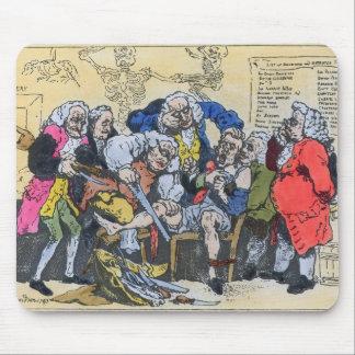仕事1793年のジョージ王朝の外科医の風刺漫画 マウスパッド