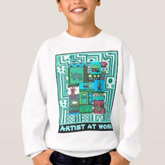 仕事-アフリカの芸術の芸術家 スウェットシャツ