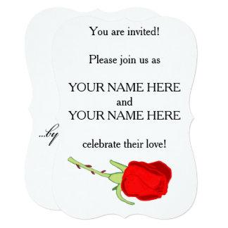 他のどの一流の結婚式招待状によっても上がりました カード