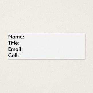 他の人の接触のコレクションカード スキニー名刺