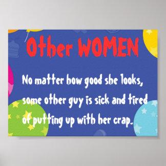 他の女性が見える何に読書 ポスター