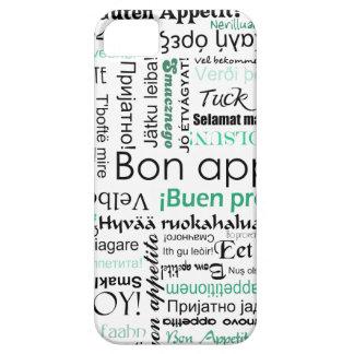 他の言語のターコイズのティール(緑がかった色)の糖菓のappetit iPhone SE/5/5s ケース