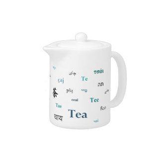 他の言語ティーポットの茶-ターコイズ/ティール(緑がかった色)