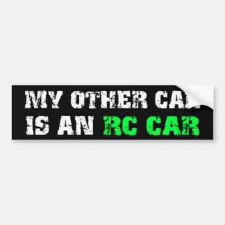 他の車はRC車です バンパーステッカー
