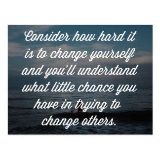 他を変えることを試みること引用文 ポストカード