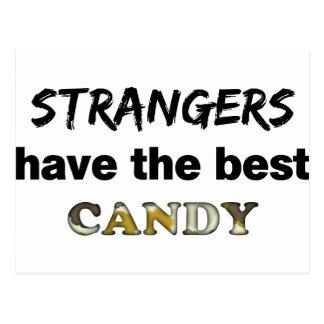 他人およびキャンデー ポストカード