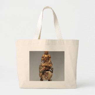 付随の菩薩の仏Shakyamuni ラージトートバッグ