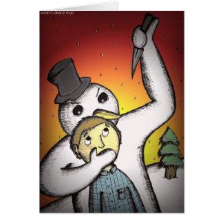 代わりとなるクリスマスカード-キラー雪だるま カード
