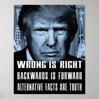 代わりとなる事実は真実- Trump反大統領です ポスター