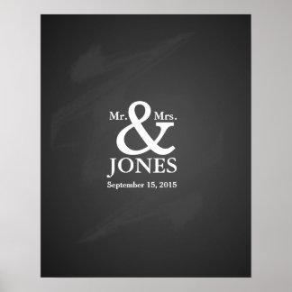 代わりとなる結婚式のゲストの署名の本 ポスター