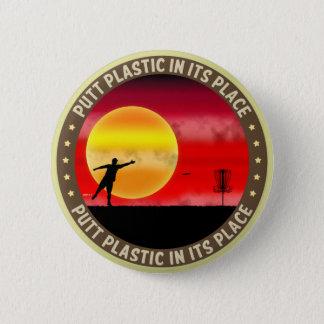 代わりにパットのプラスチック 缶バッジ