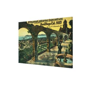 代表団からの都市、パナマカリフォルニア博覧会の眺め キャンバスプリント
